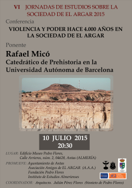 Cartel Jornadas Arqueológicas Julio 2015