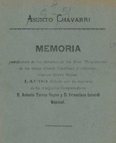 ASUNTO CHAVARRI